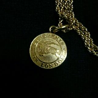 バーバリー(BURBERRY)のBurberry バーバリー ネックレス ゴールド(ネックレス)