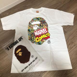 アベイシングエイプ(A BATHING APE)の限定 BAPE MARVEL コラボ Tシャツ(Tシャツ/カットソー(半袖/袖なし))