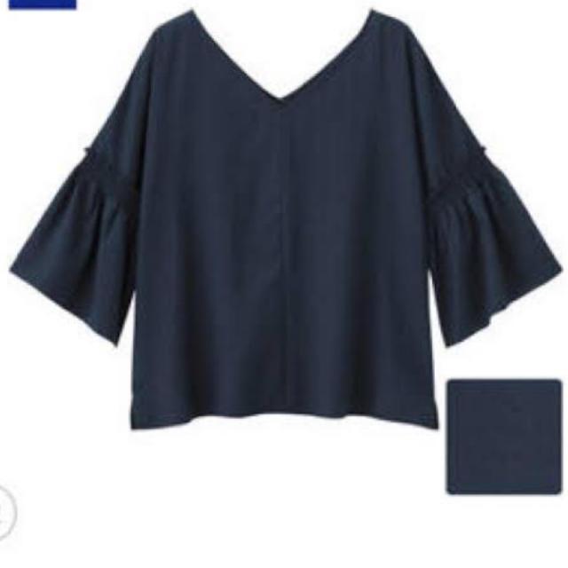 GU(ジーユー)のGU バックボタン2wayブラウス レディースのトップス(シャツ/ブラウス(長袖/七分))の商品写真