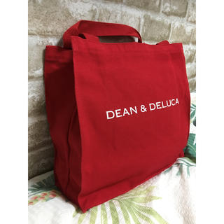 DEAN & DELUCA - DEAN&DELUCA ディーン&デルーカ スクエア トートバッグ 赤 レッド