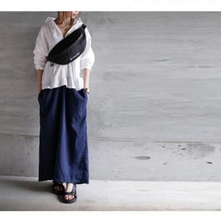 アンティカ(antiqua)の美品 アンティカ  ドッキングシャツワンピース(ロングワンピース/マキシワンピース)