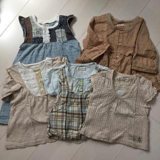 ビケット(Biquette)の子供服 女の子 biquette 夏物 まとめ売り 5点(ワンピース)