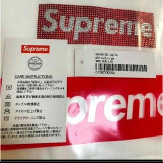 シュプリーム(Supreme)の 最安★ supreme  swarovski box logo tee  L (Tシャツ/カットソー(半袖/袖なし))