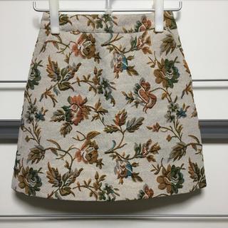 ローリーズファーム(LOWRYS FARM)のLOWRYS FARM 花柄 ミニスカート M(ミニスカート)