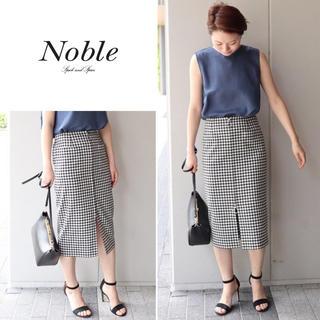 ノーブル(Noble)の Noble 🌷ギンガムチェックフープジップタイトスカート(ひざ丈スカート)