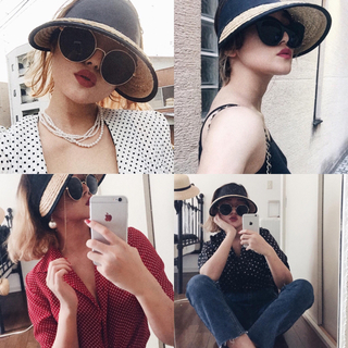 epine♡piping sun visor
