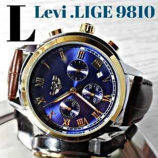 【箱付き】Levi.LIGE9810  腕時計 メンズ ウォッチ ブルー(腕時計(アナログ))