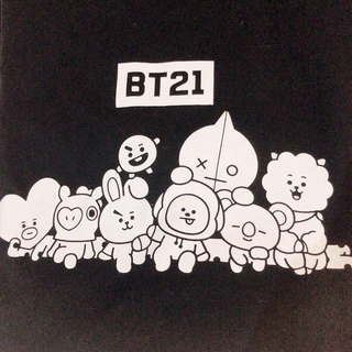 シマムラ(しまむら)のBT21♡Tシャツ♡LL ♡黒(Tシャツ(半袖/袖なし))