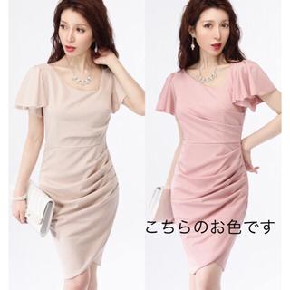 デイジーストア(dazzy store)のドレスライン 新品未使用  タイトワンピース ドレス ダスティピンク S(ミディアムドレス)