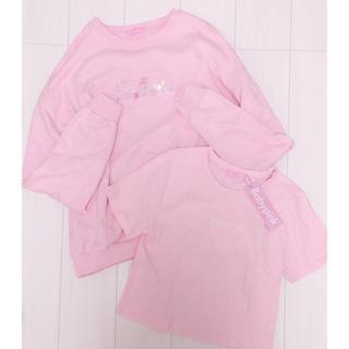 Bubbles - ♡babypink ロゴスウェット&ロゴTシャツセット ピンク 美品♡