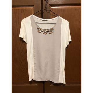 ザラ(ZARA)のビジュートップス(Tシャツ(半袖/袖なし))