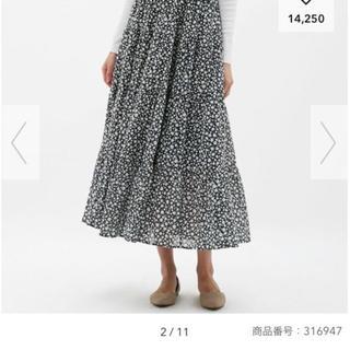 ジーユー(GU)のGU ティアードフレア ロングスカート(ロングスカート)