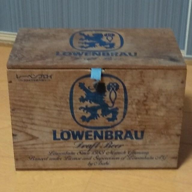 木箱アンティーク レーベンブロイ インテリア/住まい/日用品のインテリア小物(小物入れ)の商品写真