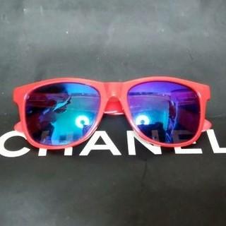 ロンハーマン(Ron Herman)のH&M×DIVIDEDネオンレッドカラーブルーミラーサングラス新品(サングラス/メガネ)