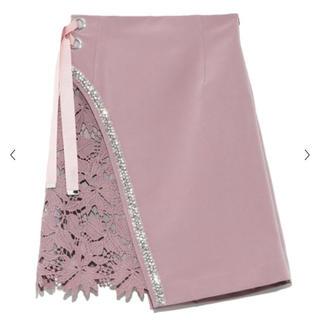 Lily Brown - リリーブラウン CANDY STOCK ビジューレーススカート