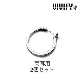 VIVIFY - 両耳用 VIVIFY ビビファイ Hammered Hoop Pierce 新品
