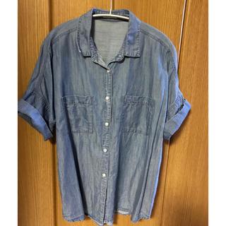 ジーユー(GU)のGUジーユー☆デニムシャツ(シャツ/ブラウス(半袖/袖なし))