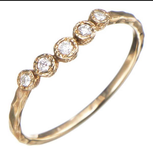 JILLSTUART(ジルスチュアート)のJILLSTUART ピンキーリング 2号サイズ K10YG ダイヤモンド レディースのアクセサリー(リング(指輪))の商品写真