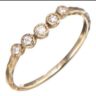 ジルスチュアート(JILLSTUART)のJILLSTUART ピンキーリング 2号サイズ K10YG ダイヤモンド(リング(指輪))
