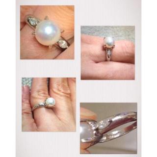 ジュエリーマキ(ジュエリーマキ)の本真珠リング&ダイヤ(リング(指輪))