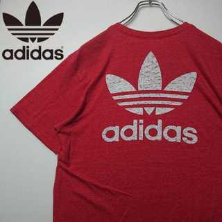 アディダス 90s デカロゴ Tシャツ トレフォイルロゴ 柔らか生地 N149