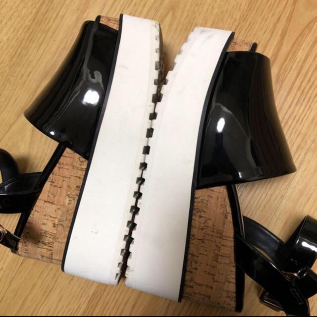 snidel(スナイデル)のsnide サンダル 黒 Sサイズ レディースの靴/シューズ(サンダル)の商品写真