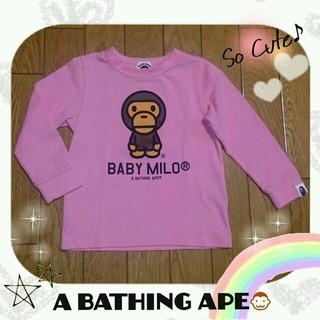 アベイシングエイプ(A BATHING APE)のA BATHING APEキッズ☆(Tシャツ/カットソー)