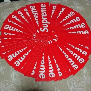 Supreme - Supreme box logo sticker 定番 赤 ステッカー
