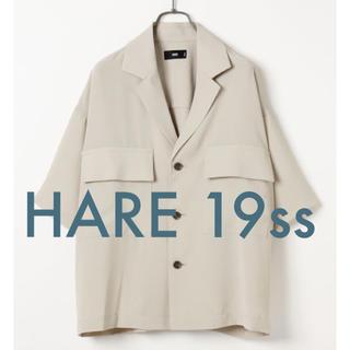 HARE - HARE 19ss 新作 BIGポケットデザインシャツ グレー M 新品未使用