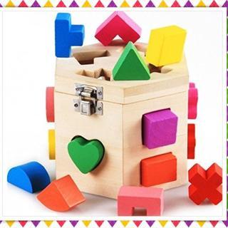 知育玩具 立体カラフルパズル 積み木 木製