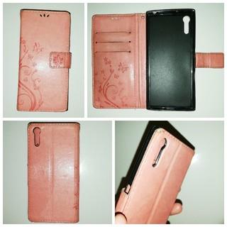 Xperia - Expedia XZ スマホ 手帳 カバー ケース  携帯 ピンク 革