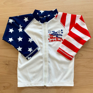 西松屋 - 美品 ラッシュガード95cm 男の子水着 USA アメリカ 星条旗柄