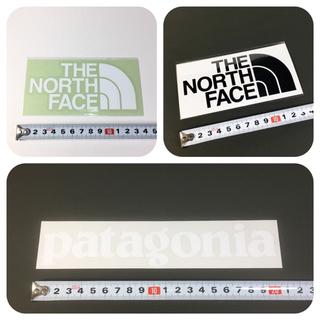 ザノースフェイス(THE NORTH FACE)のノースフェイス パタゴニア ステッカー 2点 ⁑ 切り文字 カッティング 白!(その他)