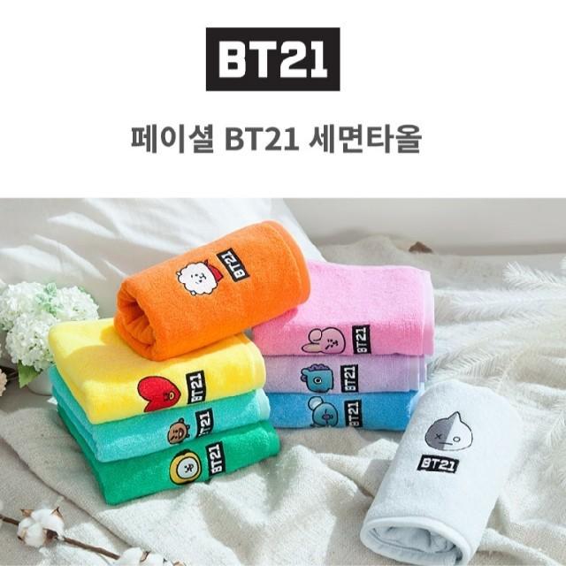 防弾少年団(BTS)(ボウダンショウネンダン)のBT21 TATA タオル エンタメ/ホビーのおもちゃ/ぬいぐるみ(キャラクターグッズ)の商品写真