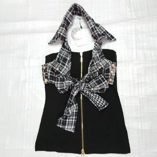 マーズ(MA*RS)の増税前今日までお値下げ新品リアルマーズシャツ風ホルターネック(チューブトップ)(ベアトップ/チューブトップ)