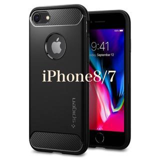 Spigen - 米ブランド iPhone/Androidケース ラギッド・アーマー(黒、青)
