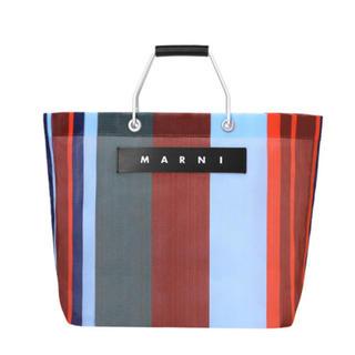 Marni - 新品 マルニ MARNI マーケット ラッカーレッド ストライプ トートバッグ