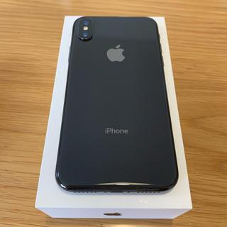 Apple - iPhone X 256GB スペースグレー ドコモ SIMロック解除済