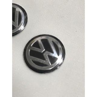 フォルクスワーゲン(Volkswagen)の新品VW フォルクスワーゲンのエンブレムシール黒14mm 2枚セット(車内アクセサリ)