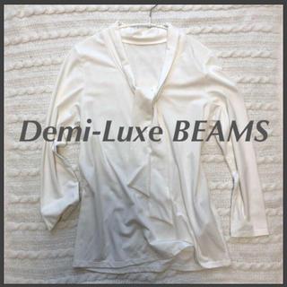デミルクスビームス(Demi-Luxe BEAMS)のデミルクス ビームス ボウタイ カットソー(カットソー(長袖/七分))