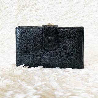 6dbf9e89fba6 フェンディ(FENDI)の極美品♥FENDI フェンディ がま口 二つ折り財布 ブラック