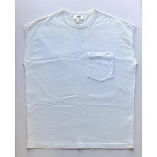 ハイク(HYKE)のHYKE ノースリーブTシャツ 白T プルオーバー カットソー(カットソー(半袖/袖なし))