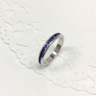 ブルー クリスタル リング(リング(指輪))