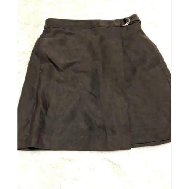 GU(ジーユー)のタイトスカート ダークブラウン レディースのスカート(ミニスカート)の商品写真