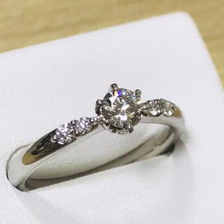 【超美品】G, VS1, 3EX H&C, 0.235ctダイヤ ptリング(リング(指輪))