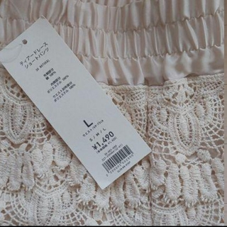 ジーユー(GU)のレース ショートパンツ&ミニスカート 新品タグつき(ショートパンツ)