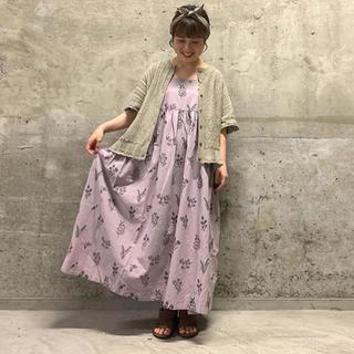 SM2 - TSUHARU 新品 綿麻刺繍キャミワンピース