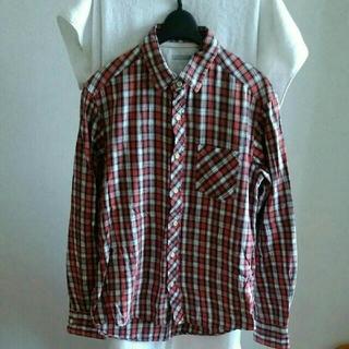 GU - ジーユー★赤ネルシャツ