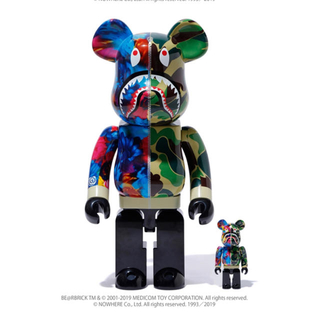 A BATHING APE - BE@RBRICK  ×M / mika ninagawa SHARK
