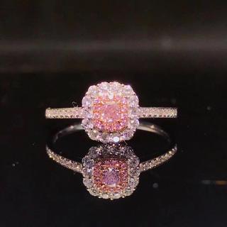 ピンクダイヤモンドシンプル指輪